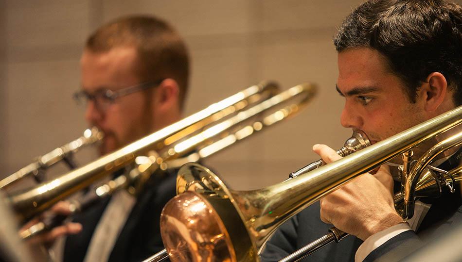 SFCM Brass students playing Trombone