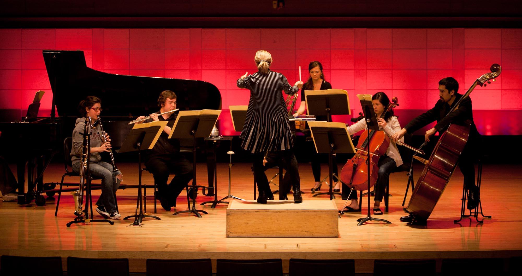 SFCM ensemble on stage