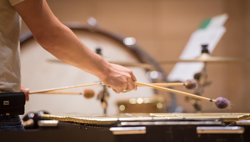 Percussion performance closeup