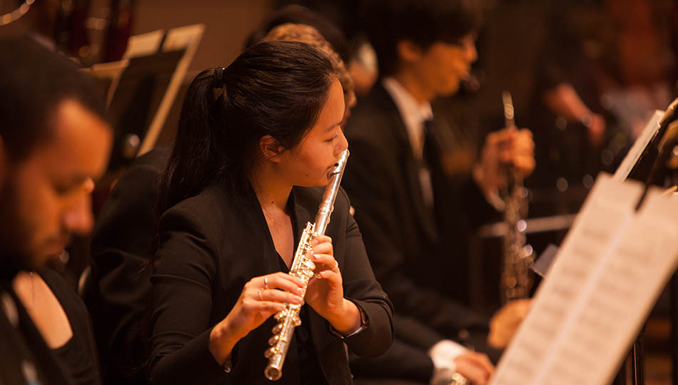 SFCM woodwinds student playing flute