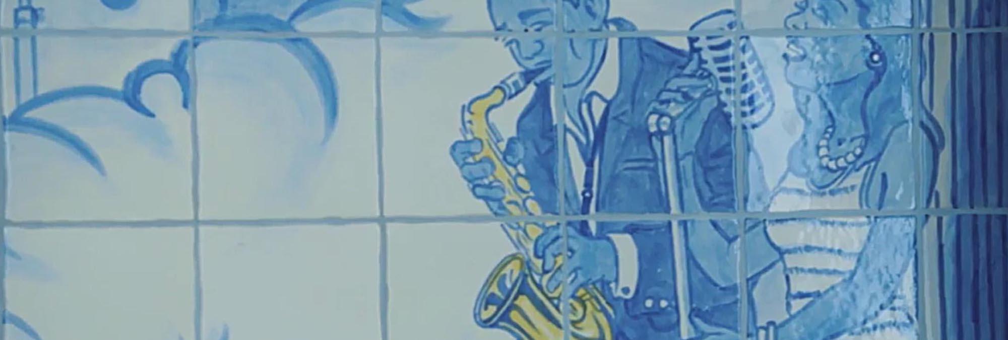 Saxophone mural