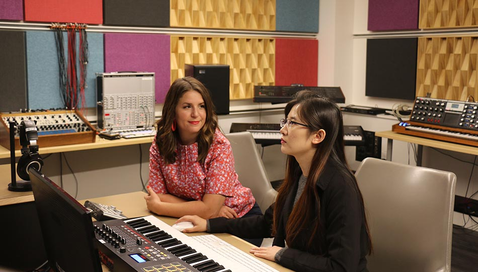 MaryClare Brztywa and a student at the San Francisco Conservatory of Music