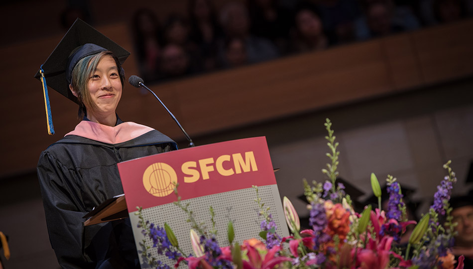 Taylor Chan at commencement