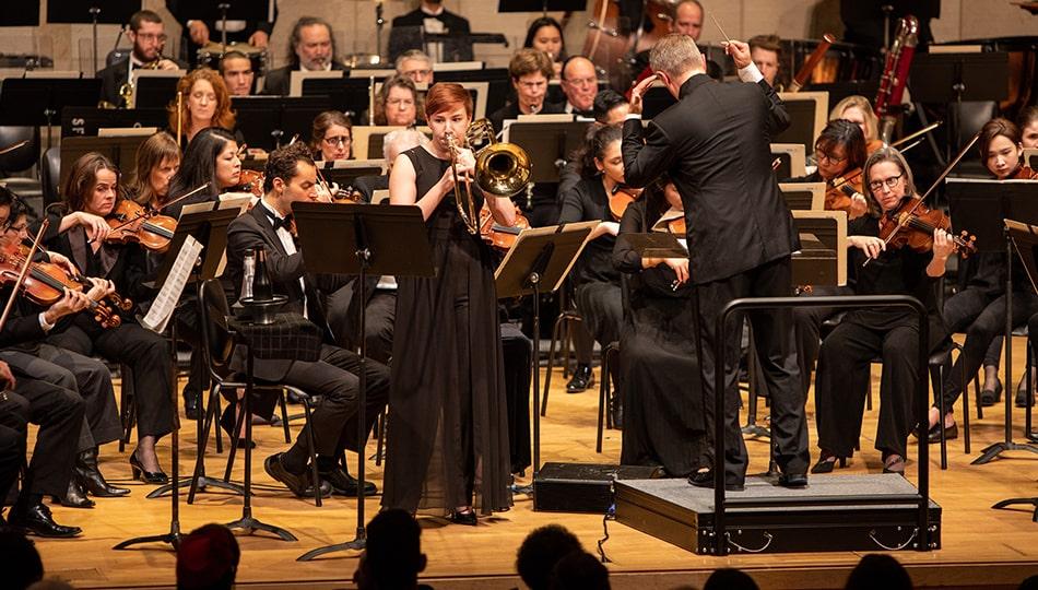 Winter Term orchestra trombone conductor