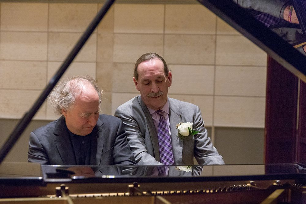two pianists play a four hand piece at Fanfare 2018