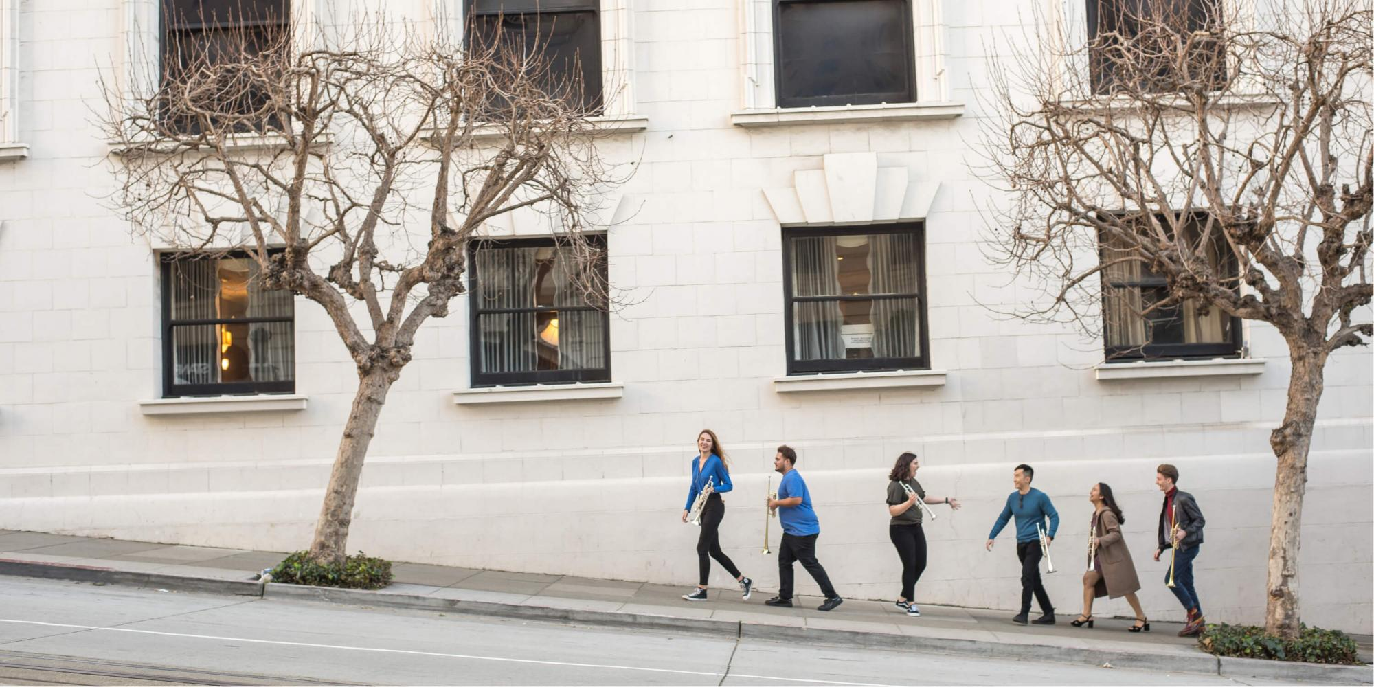 SFCM students outside in San Francisco