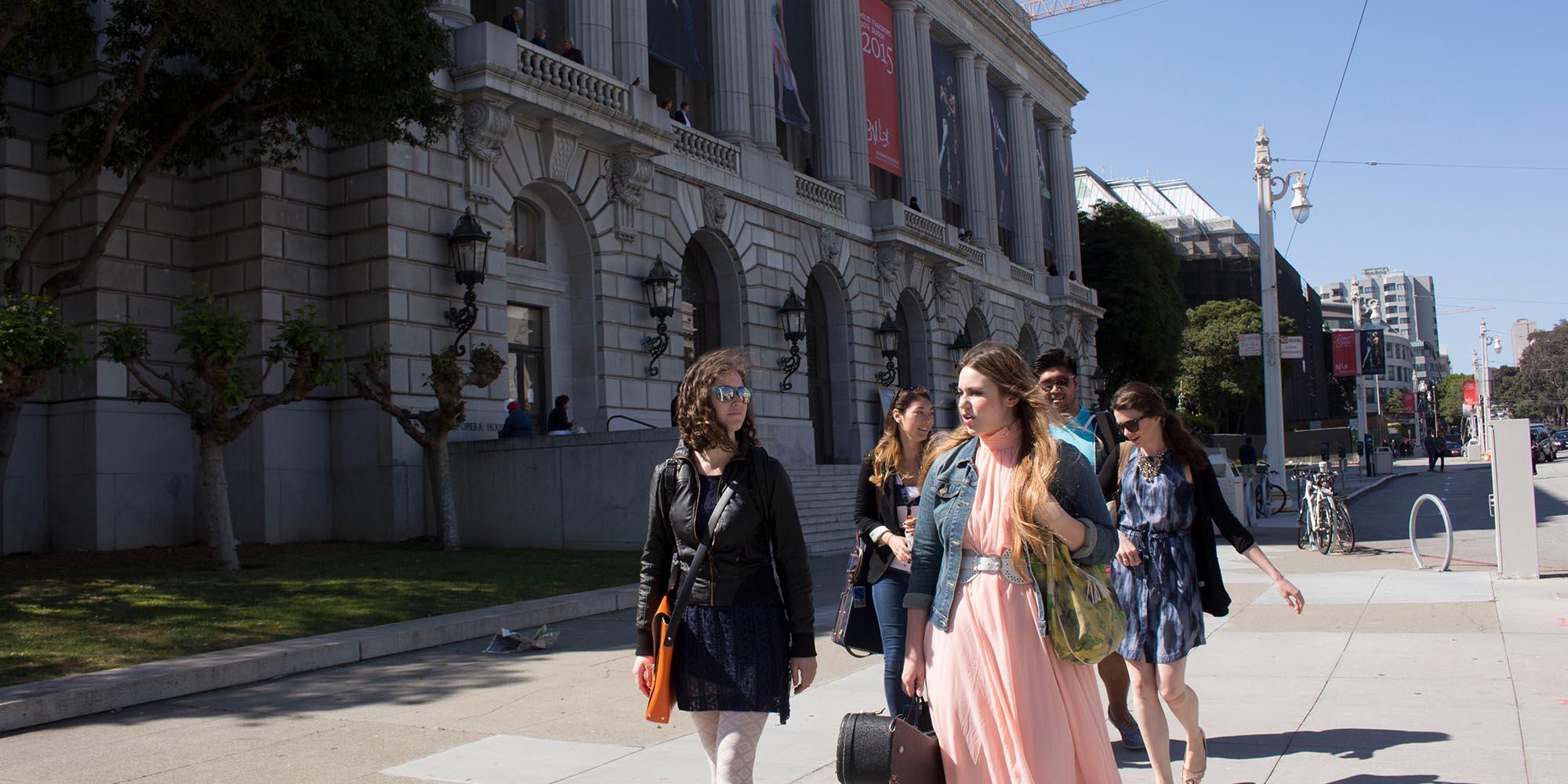 SFCM students outside