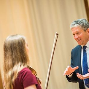 Alexander Barantschik SFCM violin Faculty teaches student