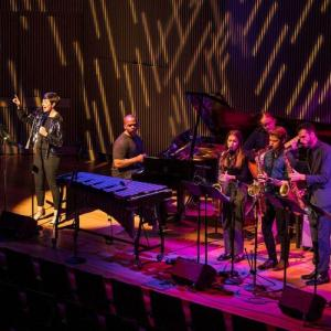 A photo of SFCM students performing with SFJAZZ