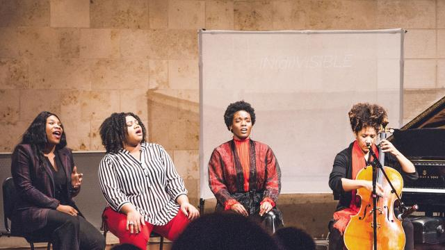 students at the SFCM Black History Month concert in 2019