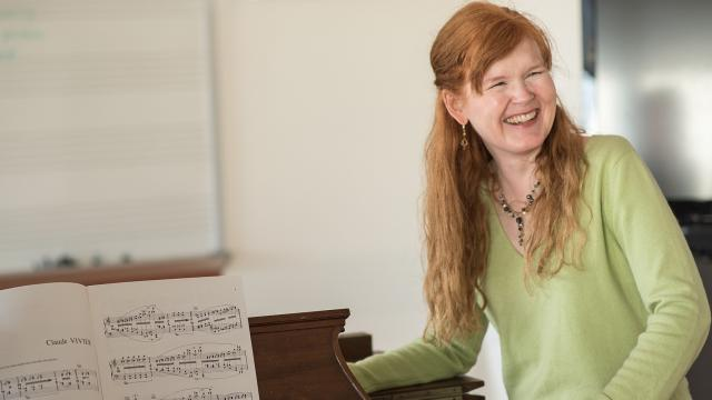 A photo of faculty member Sarah Cahill
