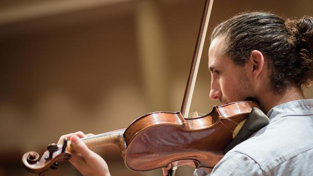 A violin student of the San Francisco Conservatory of Music