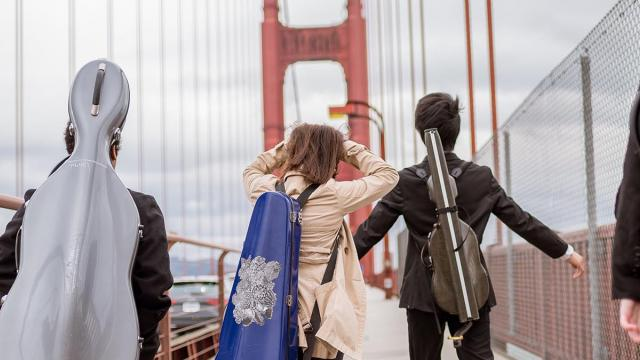 San Francisco Conservatory of Music Students at the Golden Gate Bridge