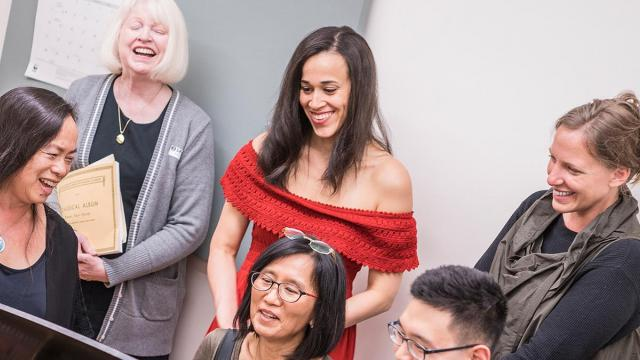 Happy adult extension students at the San Francisco Conservatory of Music