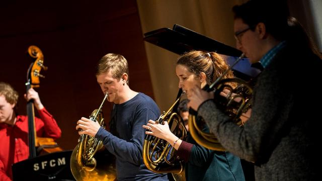 SFCM horn players during winter term