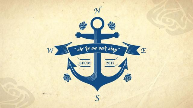 """SFCM 2017 """"We're on our way"""" compass anchor"""