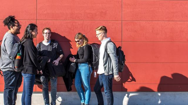 Generic image of students against a wall